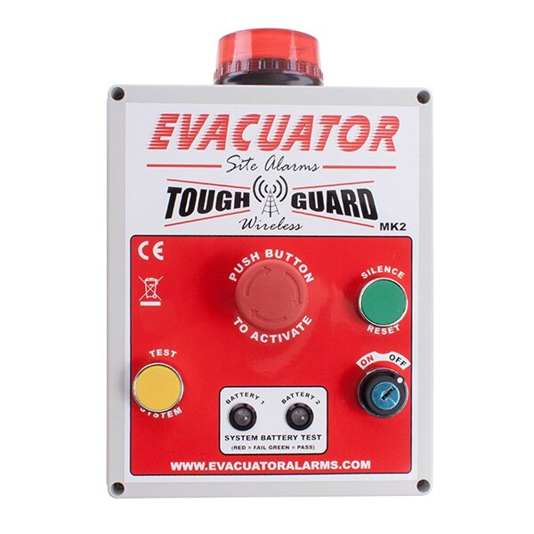 Evacuator Tough Guard Wireless - Push Button Site Alarm