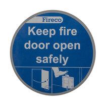 Dorgard Keep Fire Door Open Safely Sign - Vinyl (Single)