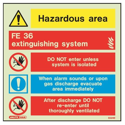 FE36 Fire Extinguisher Sign