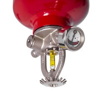 Quartzoid bulb - glass phial containing alcohol that expands when exposed to heat, shatters and activates the extinguisher