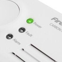 3 coloured LEDs show alarm status at a glance