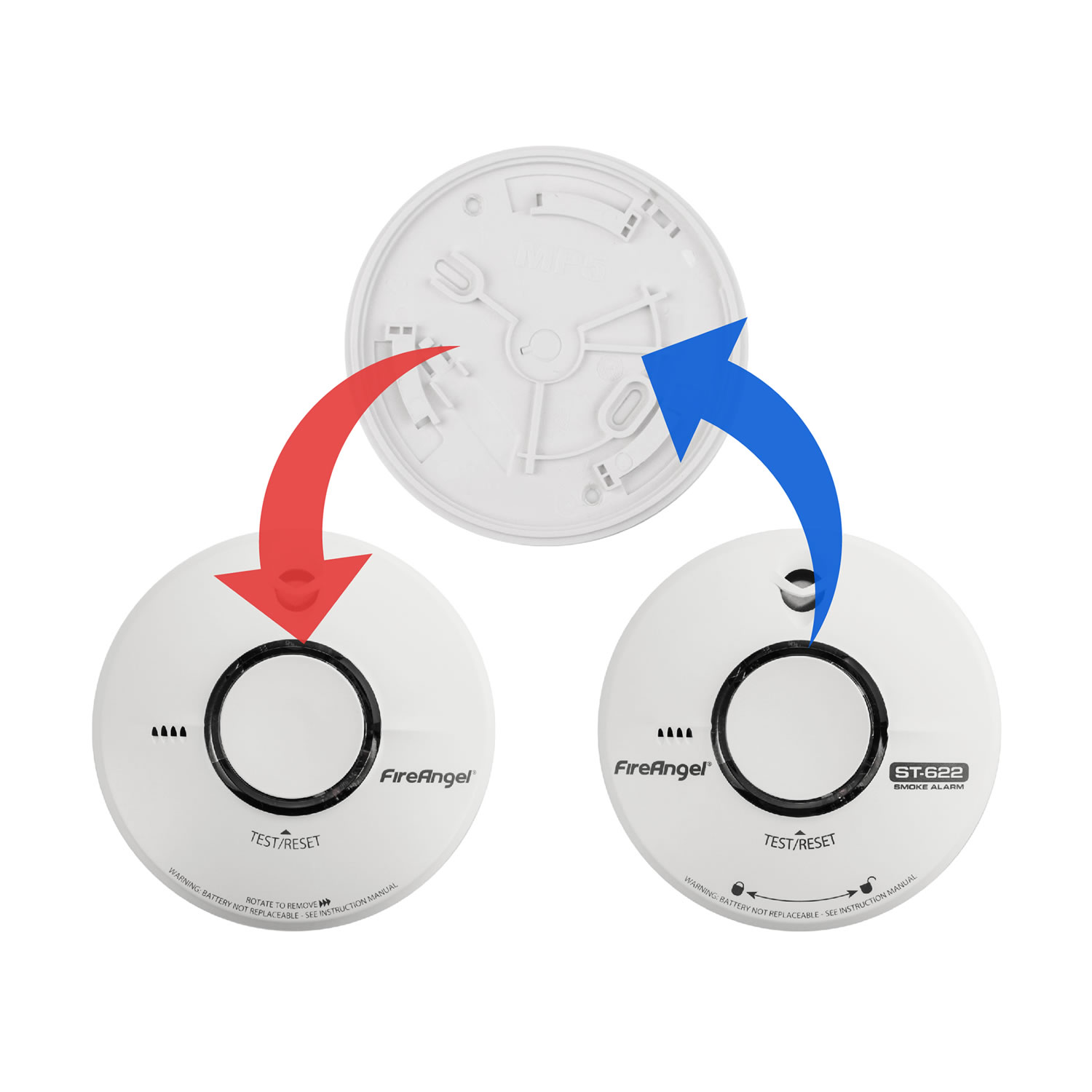 Replacement for FireAngel ST-620 10 Year Smoke Alarm