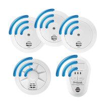 Radio-Interlink 3 Smoke, 1 Heat and 1 CO Alarm Kit - Firehawk W Series