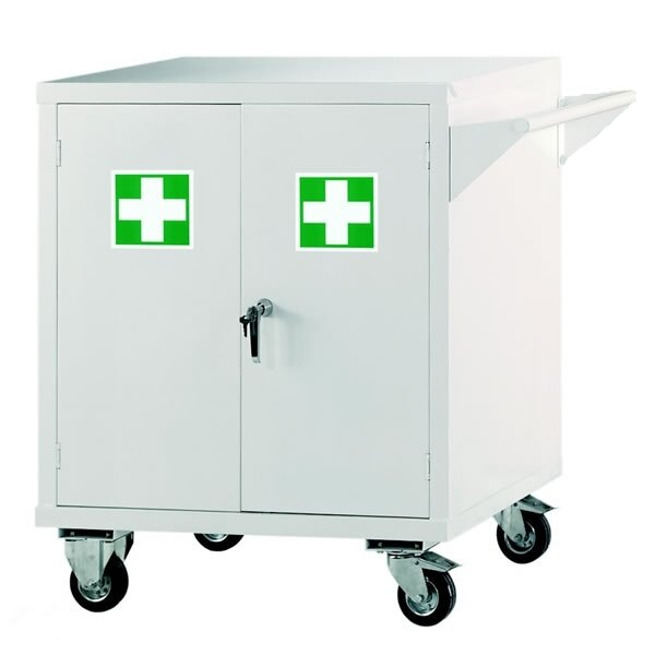Mobile First Aid Storage Cabinet - Size 1