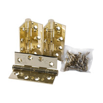 Heavy Duty Fire Door Brass Hinges - Set of 3