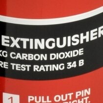 The Gloria C2GH has a higher fire rating than other 2kg CO2 extinguishers