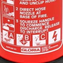 The Gloria PD4GA can also be used on fires involving electrical equipment