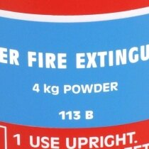 Powder fire extinguishers are suitable for use on the majority of common fires