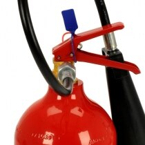 The 5kg CO2 extinguisher is supplied complete with wall bracket