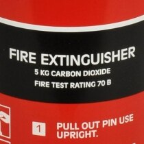 The Gloria C5G has a 70B fire extinguisher rating