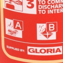 The Gloria 6ltr foam fire extinguisher is suitable for use on class A and B fires