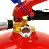 The Gloria 9ltr foam fire extinguisher has an easy to read pressure gauge