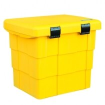 Yellow grit storage bin