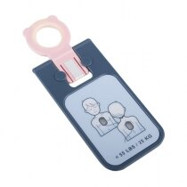Allows for the same defibrillation pad set to be used for adults, children and infants