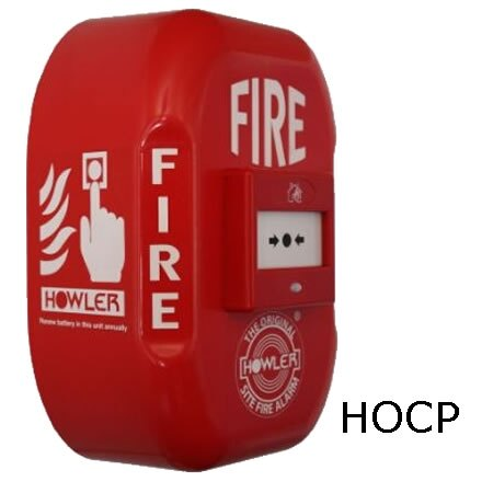 Howler alarm with call point switch