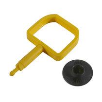 Chubb-Type Pin & OK Indicator - Black