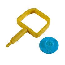 Chubb-Type Pin & OK Indicator - Blue