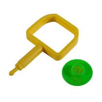 Chubb-Type Pin & OK Indicator - Green