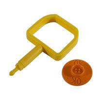 Chubb-Type Pin & OK Indicator - Orange
