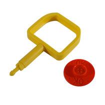 Chubb-Type Pin & OK Indicator - Red