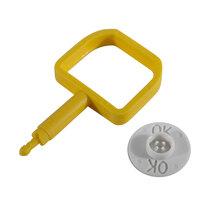 Chubb-Type Pin & OK Indicator - White