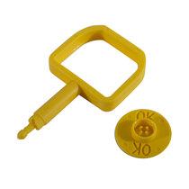 Chubb-Type Pin & OK Indicator - Yellow