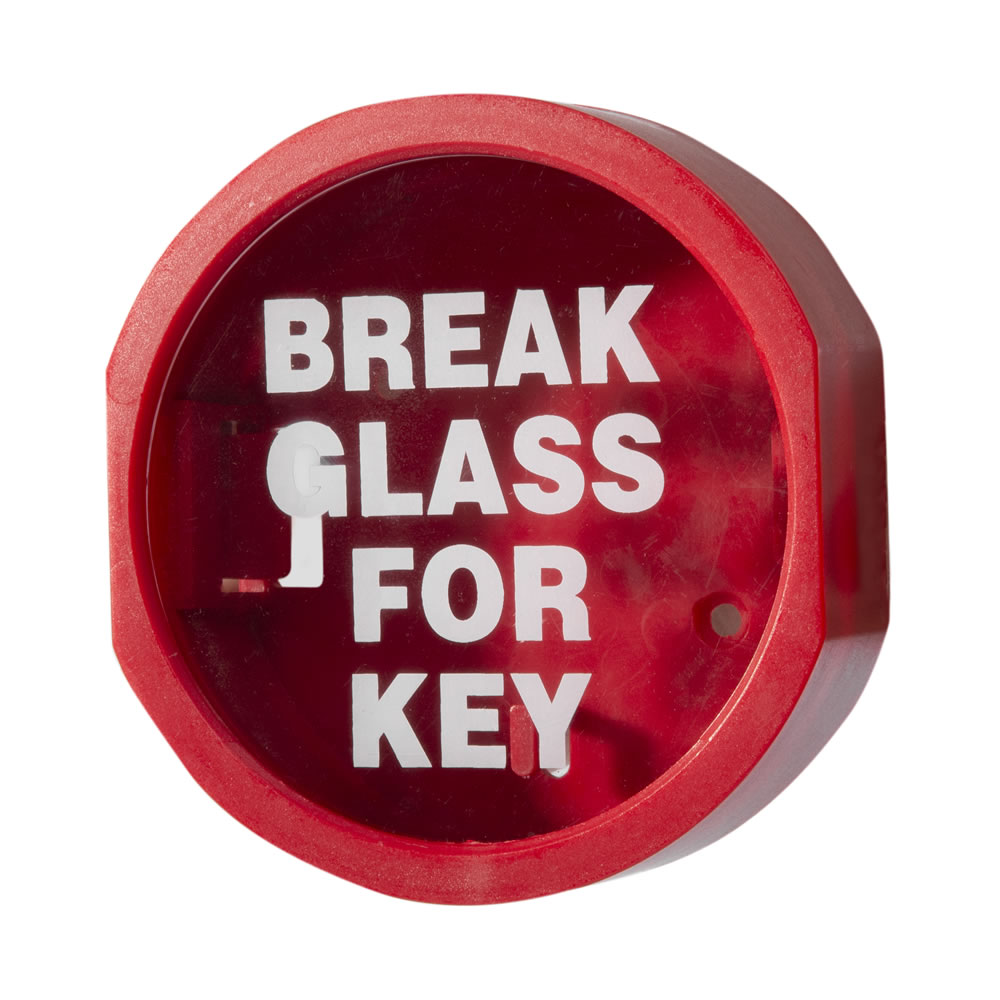 "Plastic Fronted ""Break Glass"" Keybox"