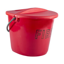 Plastic Fire Bucket and Lid