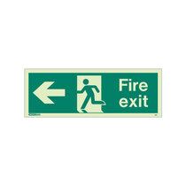 Fire Exit Sign - Rigid Plastic - Left - Size K