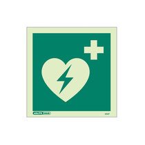Defibrillator Location - square sign without text - 150 x 150mm