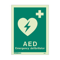Defibrillator Location - portrait sign with text - 150 x 200mm
