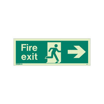 Fire Exit Sign - Rigid Plastic - Right - Size K