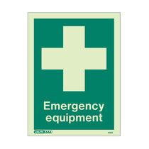 Emergency Equipment Location - Portrait sign - 150 x 150mm