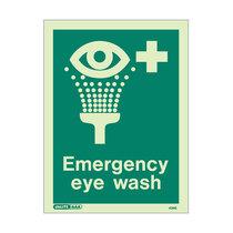 Emergency Eye Wash - Portrait sign with text - 150 x 200mm