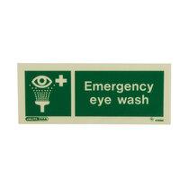Emergency Eye Wash - Portrait sign with text - 80 x 200mm