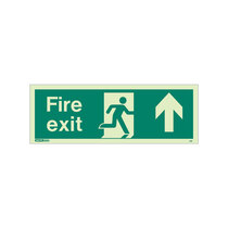Fire Exit Sign - Rigid Plastic - Up - Size K