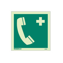 Emergency Telephone - Square sign without text - 150 x 150mm