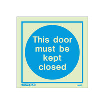 This Door Must Be Kept Closed door sign - 200 x 200mm