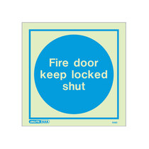 Fire Door Keep Locked Shut - Square sign - 150 x 150mm