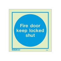 Fire Door Keep Locked Shut - Square sign - 150 x 150mm