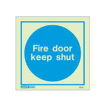 Fire Door Keep Shut - Square sign - 150 x 150mm