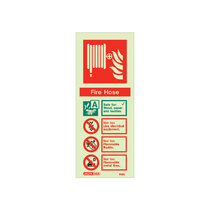 Extinguisher Sign - Fire Hose Wall Sign - 200mm x 80mm