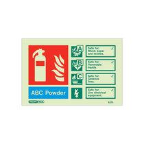 Extinguisher Sign - Powder - 105mm x 150mm
