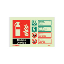 Extinguisher Sign - CO2 - 105mm x 150mm