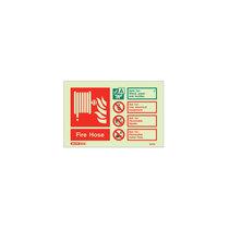 Photo-Luminescent - Fire Hose Sign - 105mm x 150mm