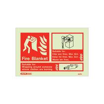Extinguisher Sign - Fire Blanket - 105mm x 150mm