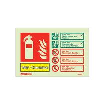 Extinguisher sign - Wet Chem - 105mm x 150mm