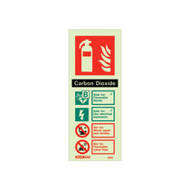Extinguisher Sign - CO2 - 200mm x 80mm