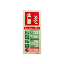 Extinguisher sign - Water Mist - 200mm x 80mm