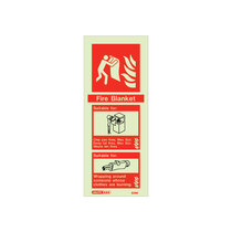 Extinguisher Sign - Fire Blanket - 200mm x 80mm